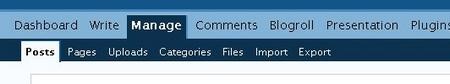 manage posts