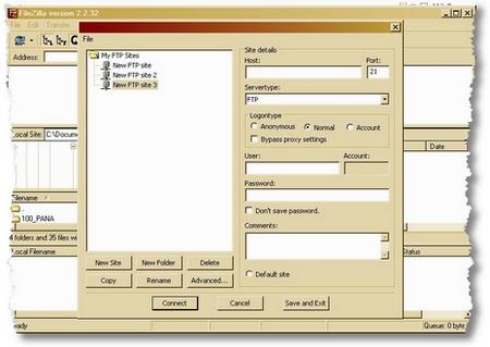 filezillaftp screen