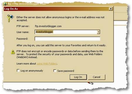 WINDOWS EXPLORER FTP