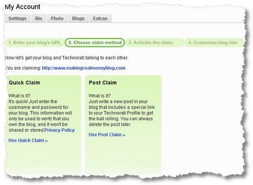 claim method technorati
