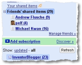 my friends subscriptions