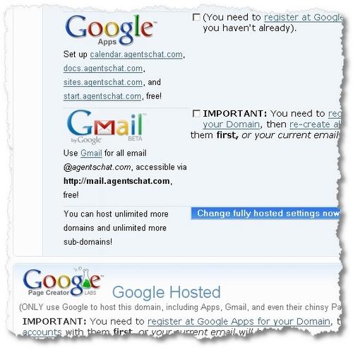 google hosted
