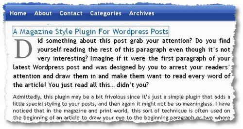magazine-style-posts plugin