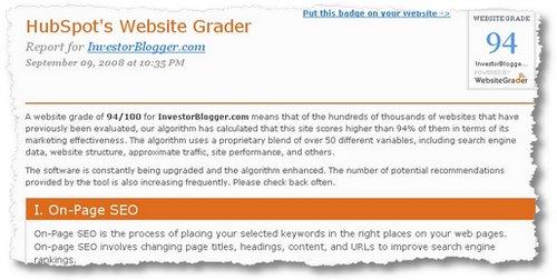 investorblogger grades