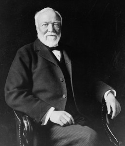 Andrew Carnegie: famous for his public and corporate philanthropy